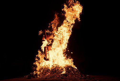 Fire, Jump, Adventure, Flame, Heat, Tradition, Hot