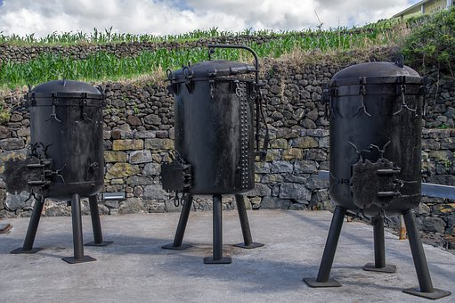 Azores, Pots, Industry, Whale, Oil, Equipment