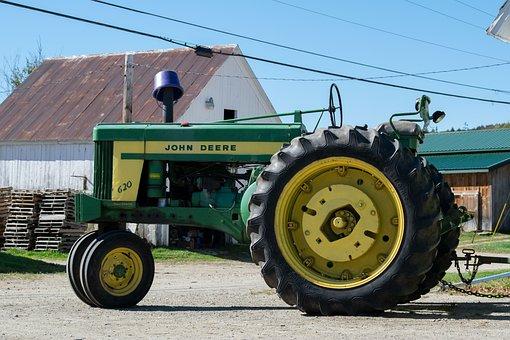 Tractor, John Deer, John Dear, Agriculture, Tractors