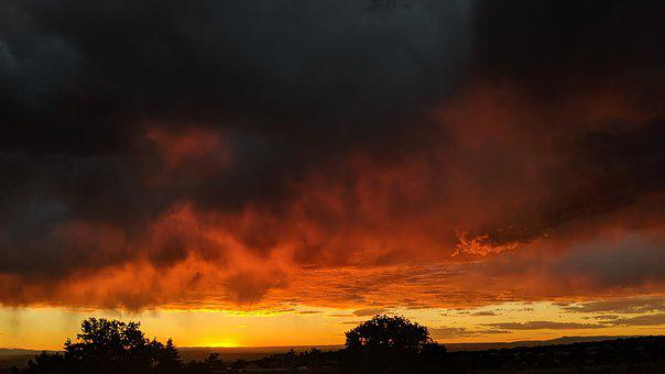 Earth Hour, Sunset, New Mexico, Outdoors, Landscape