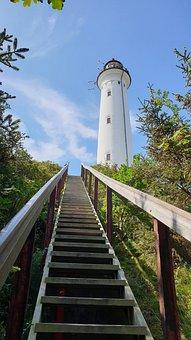 Lighthouse, Leuchtturm, Travel, Stairs, Lyngvig Fyr