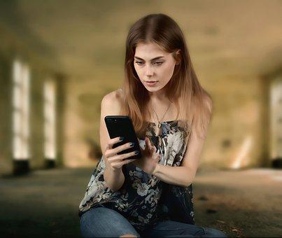 Woman, Girl, Phone, Smartphone, Technology