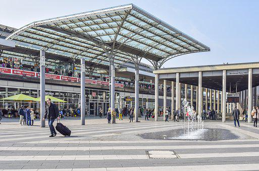 Architecture, Platform, Railway Station, Stop, Metro