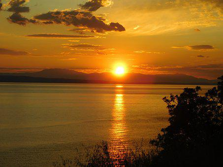Sea, Sky, Landscape, Nature, Clouds, Dawn, Sun