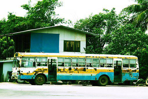 Bus, Old Bus, Old, Vehicle, The Car, Transportation