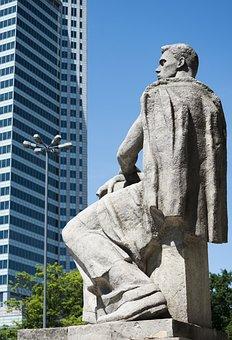 Monument, Warsaw, Poland, Architecture, Urban, City