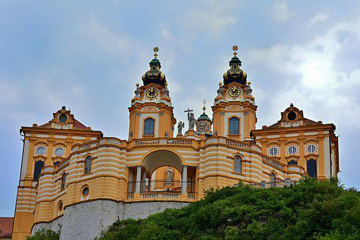 Pin Melk, Wachau, Baroque, Danube, World Heritage