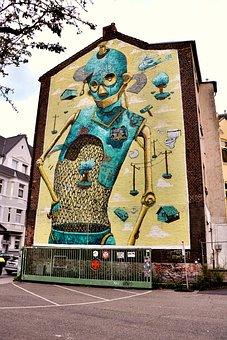 Graffiti, Street Art, Wall, Abstract, City