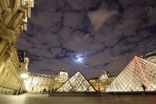 Louvre, Paris, France, Museum, Architecture, Pyramid