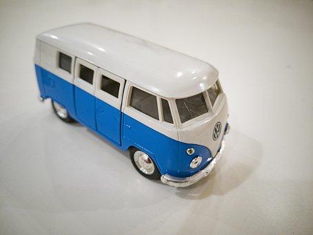 Bus, Blue, Travel, Car, Transport, Volkswagen, Auto