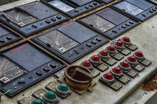 Lost Places, Operation Element, Abandoned, Buttons