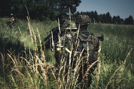 Bundeswehr, Soldier, Fighting A War, Camouflage