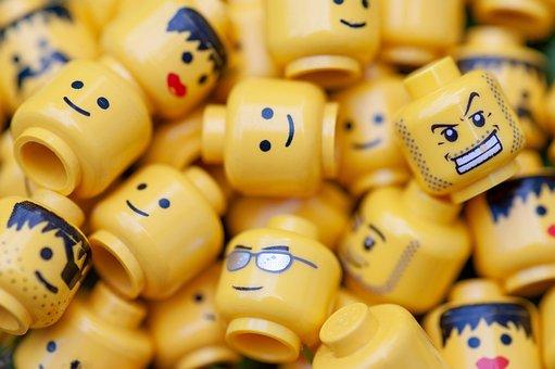 Lego, Figures, Heads, Closeup, Macro, Toys, Figure