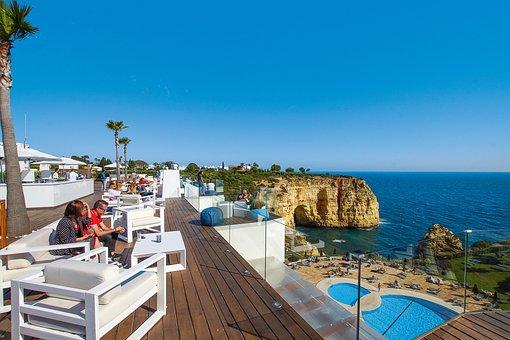 Algarve, Portugal, Carvoeiro, Beach, Coast, Sea, Ocean
