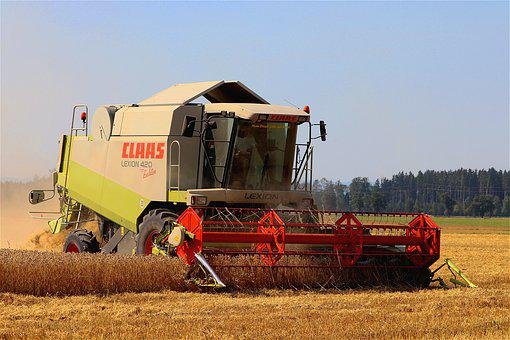 Combine Harvester, Harvest, Agriculture, Wheat