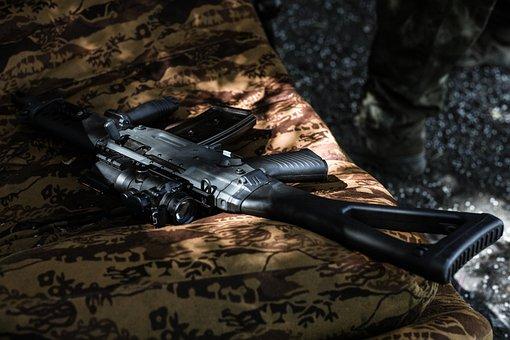 Weapon, Couch, Sofa, Rifle, G36, Orange, Dark, Download