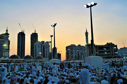People, The Crowd, Sunset, Mecca, Kaaba, Buildings