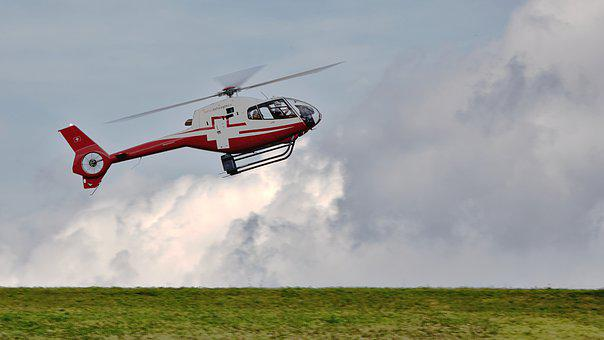 Helicopter, Flying, Rotor, Sky, Landing