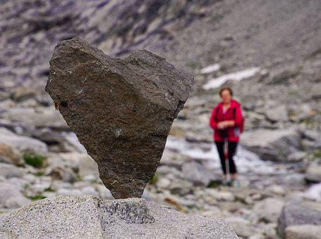 Stone, Heart, Stonestacking, Balance, Mountain, Woman