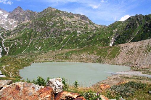 Switzerland, Mountains, Lake, Water, Sky, Nature