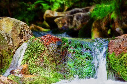 River, Bach, Waterfall, Water, Landscape, Nature