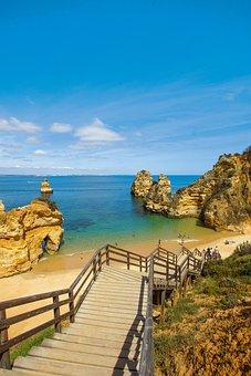 Lagos, Algarve, Portugal, City, Place, Bay, Blue