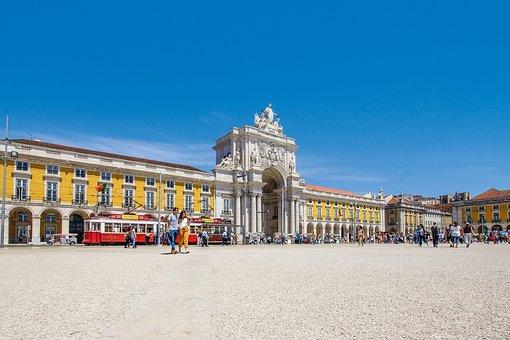 Lisbon, Yellow, Portugal, Tram, Road, Lisboa, City