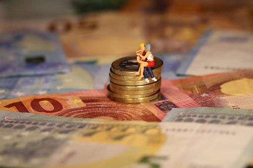 Save, Money, Miniature Figures, Old-age Provision