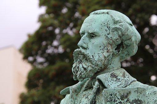 Sculpture, Statue, Torso, Bronze, Gray-green, Figure