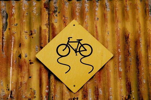 Shield, Attention, Bike, Traffic, Warning, Traffic Sign