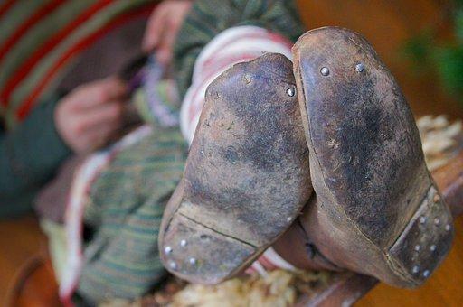 Shoes, Ancient, Nails, Old, Vintage, Shoe, Fashion