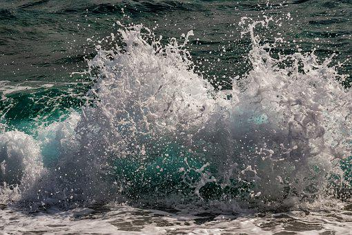 Wave, Crashing, Sea, Water, Ocean, Spray, Splash