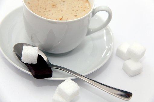 Cappuccino, Coffee, Sweet, Sugar, Sugar Lumps
