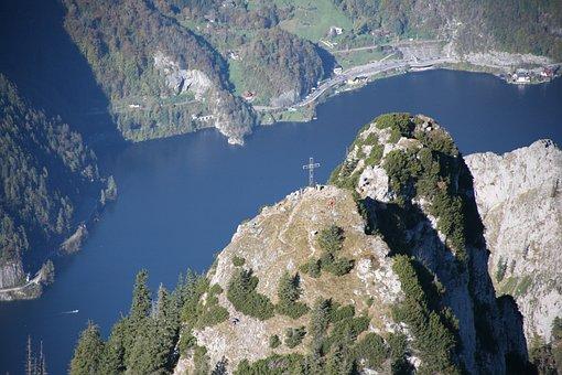 Erlakogel, Traunsee, Cross, Summit, Austria, Gmunden