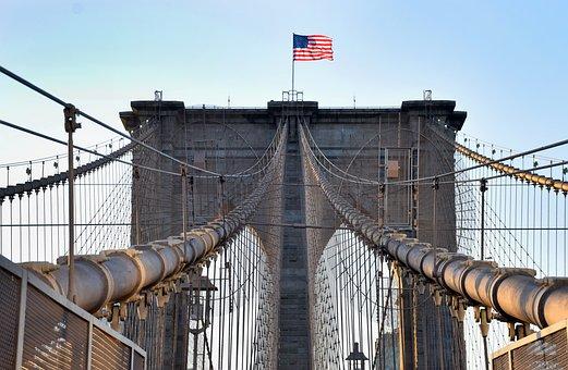 Brookling, Bridge, Manhattan, City, Architecture, Nyc