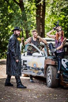 Banda, Punks, Police, Weapons, Rifle, Shotgun