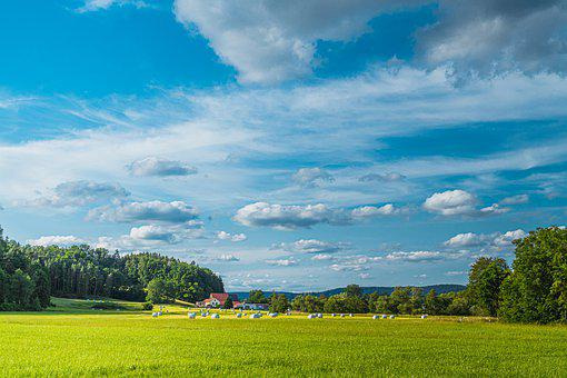 Germany, Field, Sky, Bavaria, Clouds, Landscape, Nature