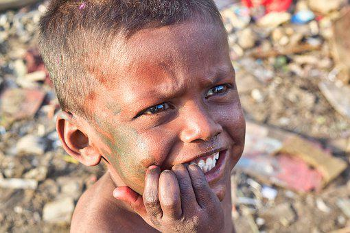 India, Slums, Poor, Support, Child, Boy, H4zp, Poverty