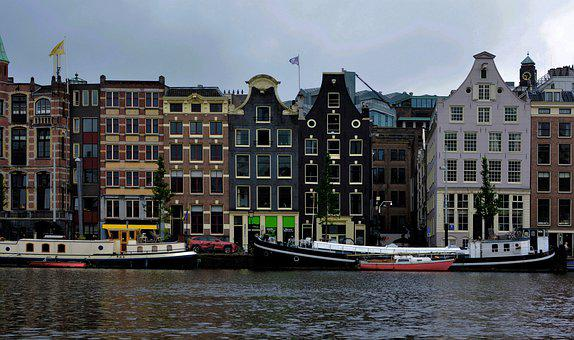 Dancing House, Canal Cruise, Amsterdam, Netherlands