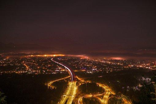 City, Night, Lights, Dark, Urban, Cityscape, Skyline
