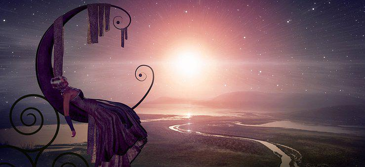 Fantasy, Light, Sun, Landscape, Relax, Girl, Concerns