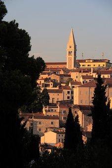 Vrsar, Croatia, Historic Center, Istria, Steeple
