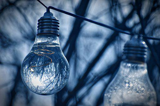 Light Bulb, Water, Energy, Nature, Environment, Ecology