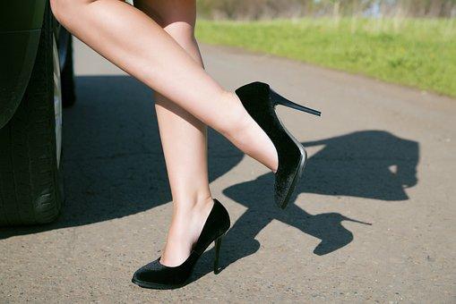 Shoes, Studs, Legs, Fashion, Woman, Elegant, Girls