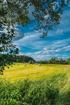 Germany, Field, Sky, Bavaria, Clouds, Landscape, Nature