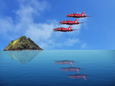 Aeroplanes, Red Arrows, Flying, Aviation, Aircraft