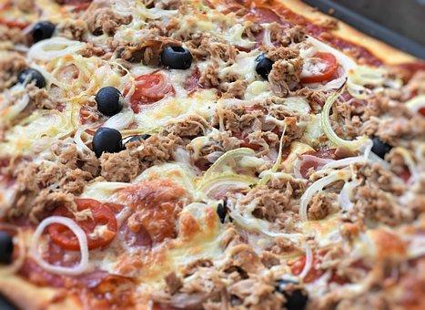 Pizza, Dough, Cheese, Tomatoes, Italian, Food