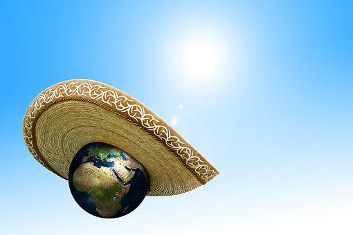 Climate Change, Sombrero, Hat, Earth, Globe, Protection