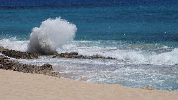 Hawaii, West Oahu, Yokohama Bay, Wave Crash, Beach