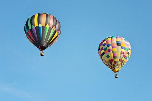 Hot Air Balloons, Colorful, Balloon, Floating